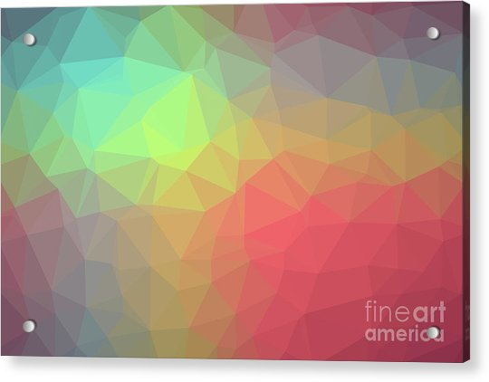 Gradient Background With Mosaic Shape Of Triangular And Square C Acrylic Print