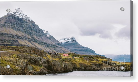 High Icelandic Or Scottish Mountain Landscape With High Peaks And Dramatic Colors Acrylic Print