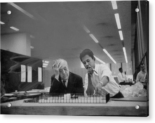 Ludwig Mies Van Der Rohe Acrylic Print by Frank Scherschel