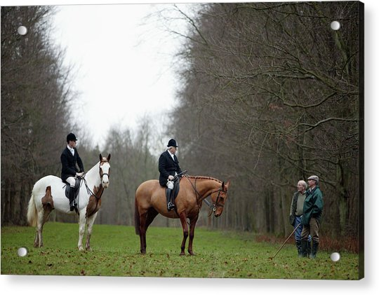 The Beaufort Hunt, Gloucestershire Acrylic Print by Brent Stirton