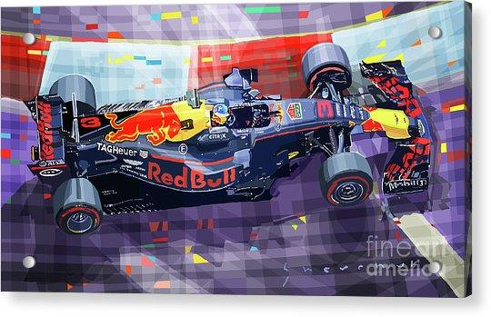 2017 Singapore Gp F1 Ricciardo   Acrylic Print by Yuriy Shevchuk