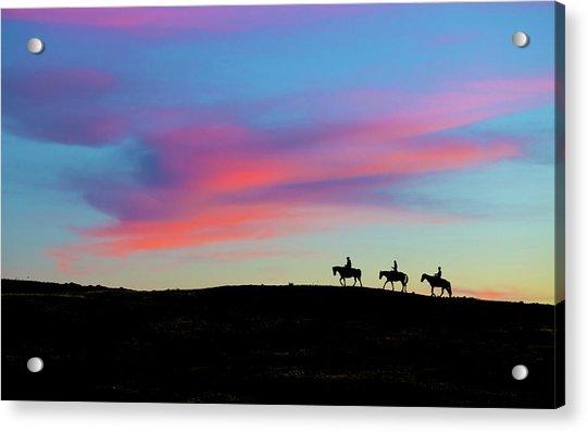 3 Horsemen Acrylic Print