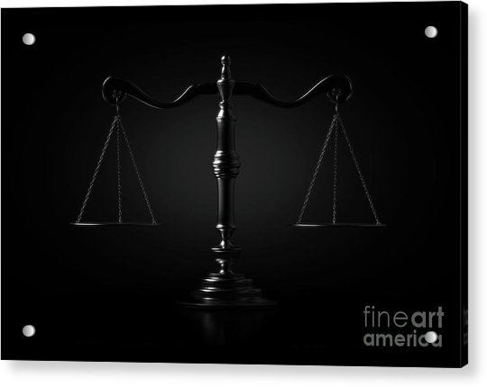 Scales Of Justice Dramatic Acrylic Print