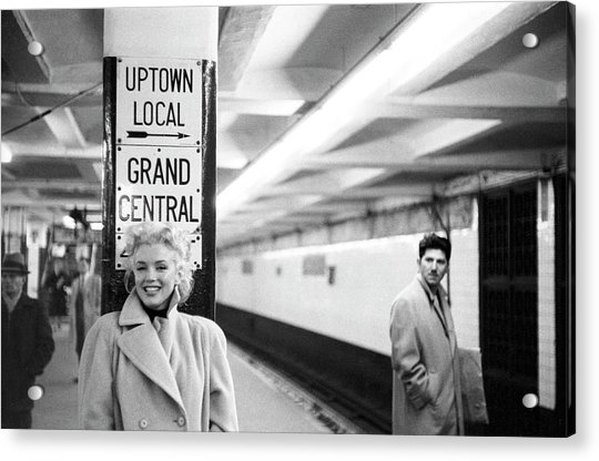 Marilyn In Grand Central Station Acrylic Print