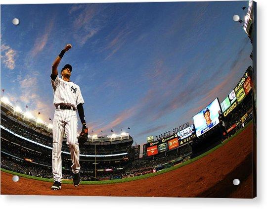Toronto Blue Jays V New York Yankees - Acrylic Print by Al Bello