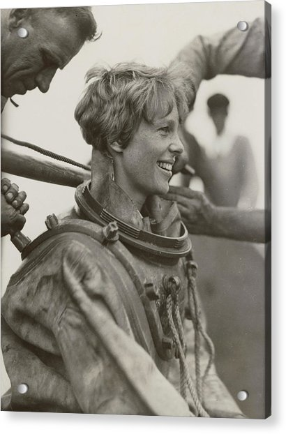 Amelia Earhart, American Aviatrix Acrylic Print by Science Source