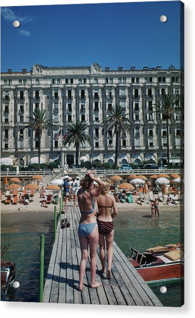 Cannes France Acrylic Print by Michael Ochs Archives