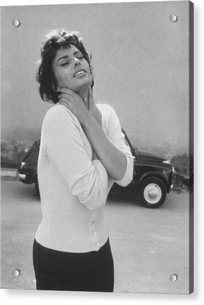 Sophia Loren Acrylic Print by Loomis Dean