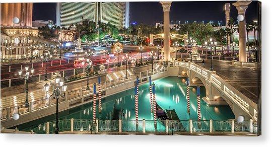 View Of The Venetian Hotel Resort And Casino Acrylic Print