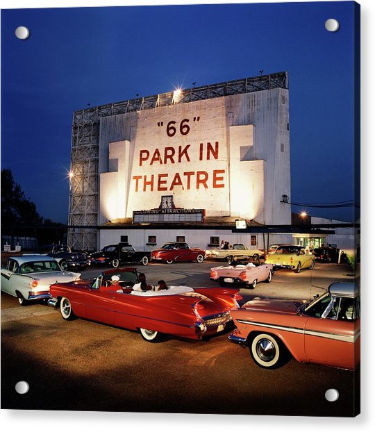 66 Park-in Theater Acrylic Print