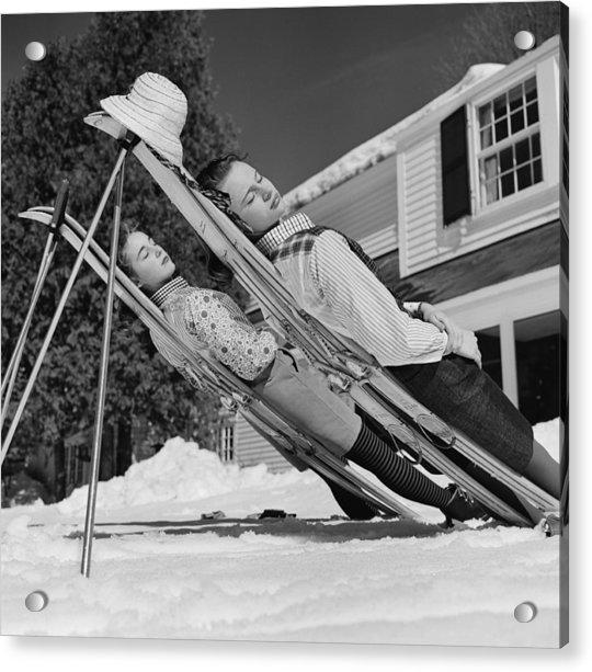 New England Skiing Acrylic Print