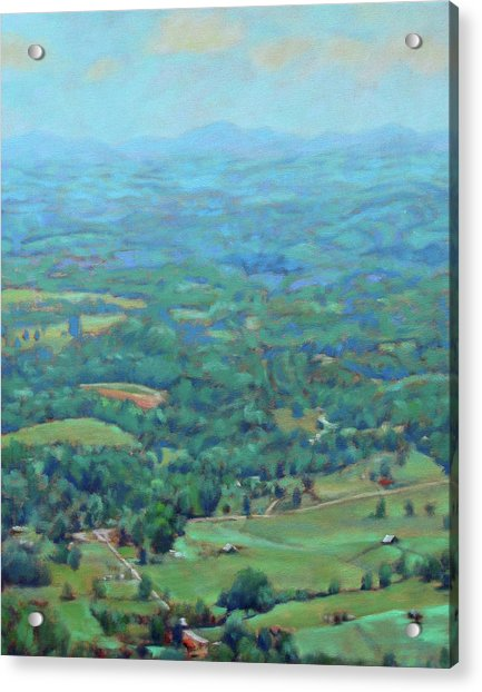 A Slow Summer's Day- View From Roanoke Mountain Acrylic Print