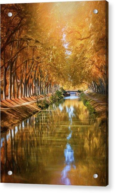 A Stroll Along Canal De Brienne Toulouse France  Acrylic Print