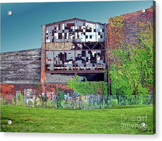 An Abandoned Factory In Detroit Acrylic Print