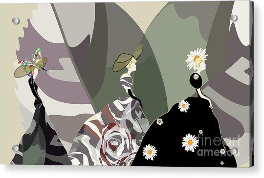 Abstract Sketch Girl Model, Dress Acrylic Print by Viktoriya Pa