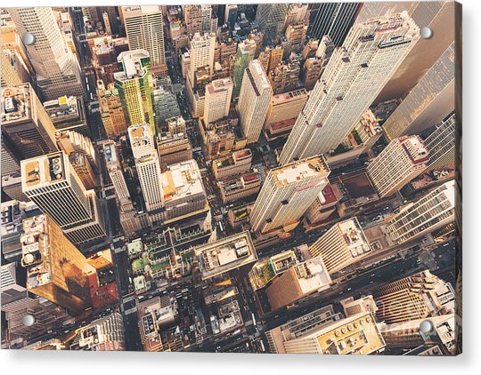 Aerial View Of Midtown Manhattan At Acrylic Print by Tierneymj