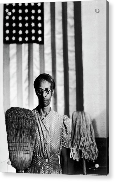African American Cleaning Woman Ella Acrylic Print by Gordon Parks