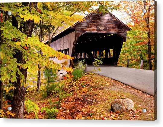 Albany Covered Bridge Near Conway, New Acrylic Print