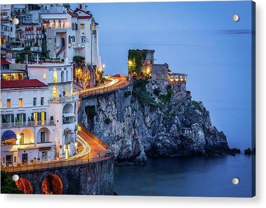 Amalfi Coast Italy Nightlife Acrylic Print