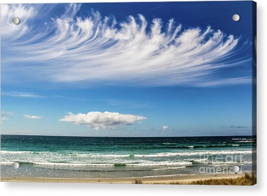 Aotearoa - The Long White Cloud, New Zealand Acrylic Print