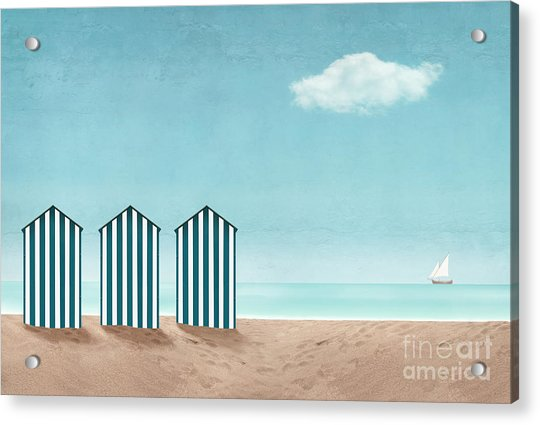 Artistic Seascape With Three Dressing Acrylic Print