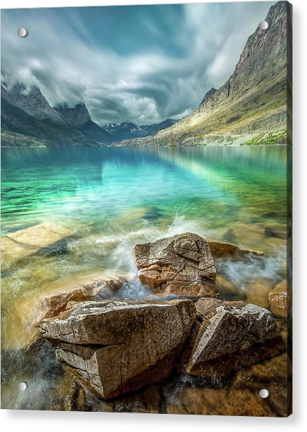 Atmospheric / St. Mary Lake, Glacier National Park  Acrylic Print