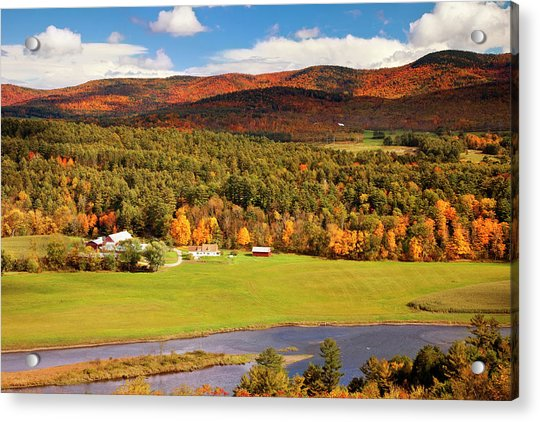 Autumn View Overlooking Connecticut Acrylic Print