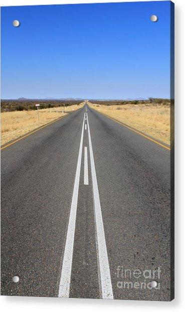 B1 Road In Namibia Heading Toward Acrylic Print