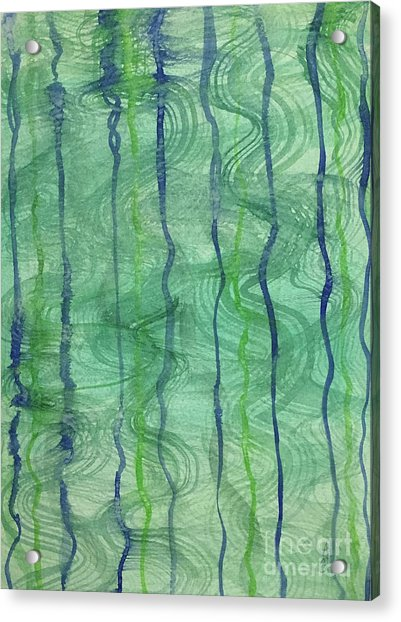Beach Water Lines Acrylic Print