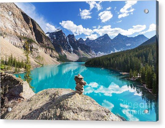 Beautiful Moraine Lake In Banff Acrylic Print