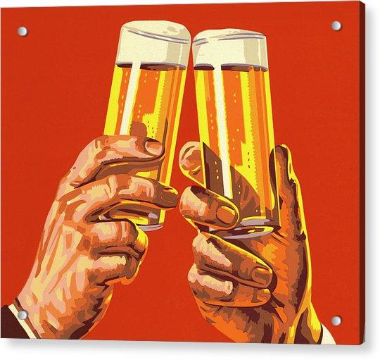 Beer Toast Acrylic Print