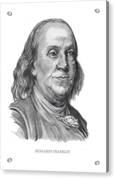 Benjamin Frankline  Acrylic Print