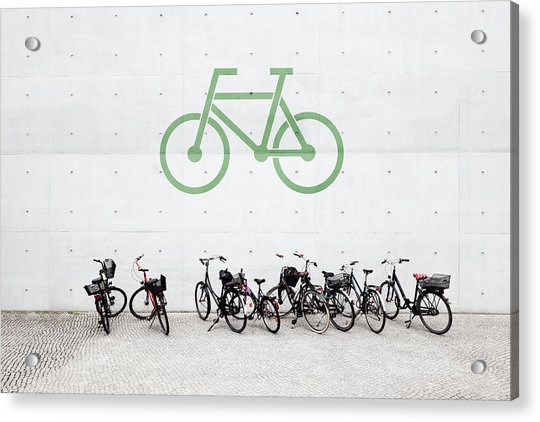 Bicycle Parking Acrylic Print