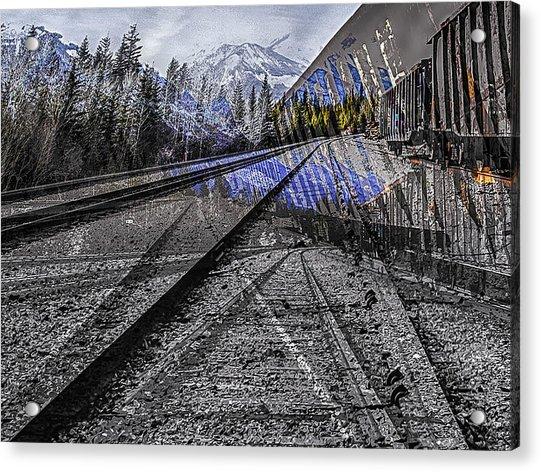 Big Steel Rail Acrylic Print