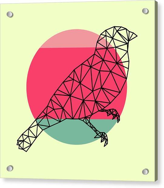 Bird And Sunset Acrylic Print