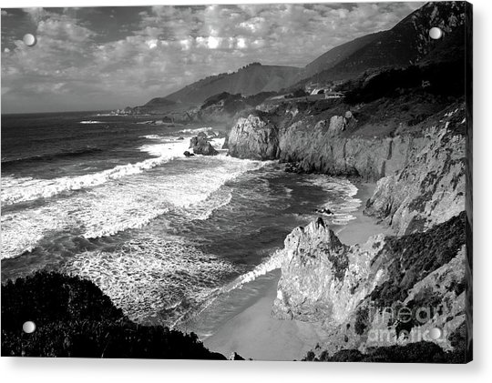 Black And White Big Sur Acrylic Print