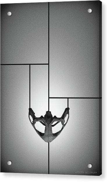 Black Chalice - Abstract Geometric Bone Art Acrylic Print