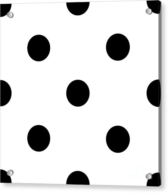Black Dots On A White Background- Ddh610 Acrylic Print