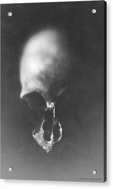 Black Erosion Acrylic Print