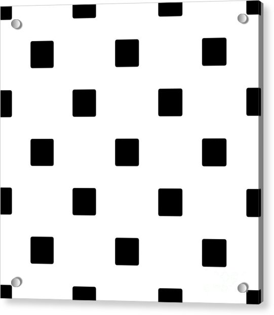 Black Squares On A White Background- Ddh574 Acrylic Print