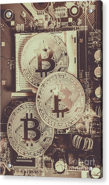 Blocks Of Bitcoin Acrylic Print