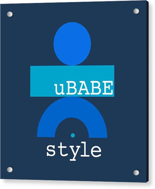 Blue Babe Acrylic Print