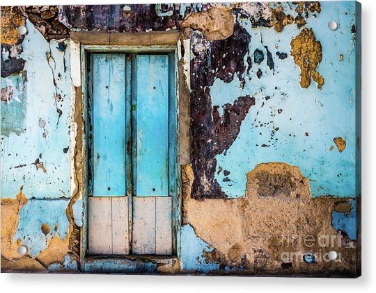 Blue Wall And Door Acrylic Print