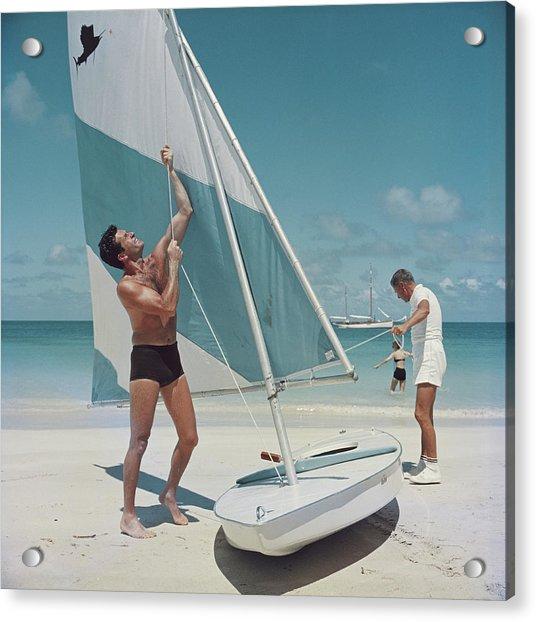 Boating In Antigua Acrylic Print