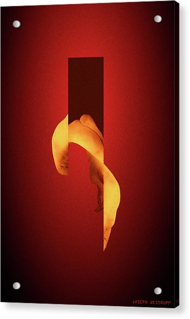 Bone Flare - Surreal Abstract Elephant Bone Collage With Rectangle Acrylic Print