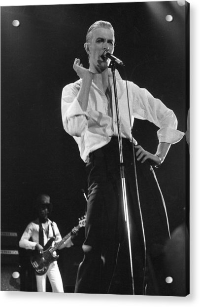 Bowie On Stage Acrylic Print by Evening Standard