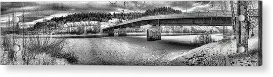 Bridge Over Frozen Waters Acrylic Print