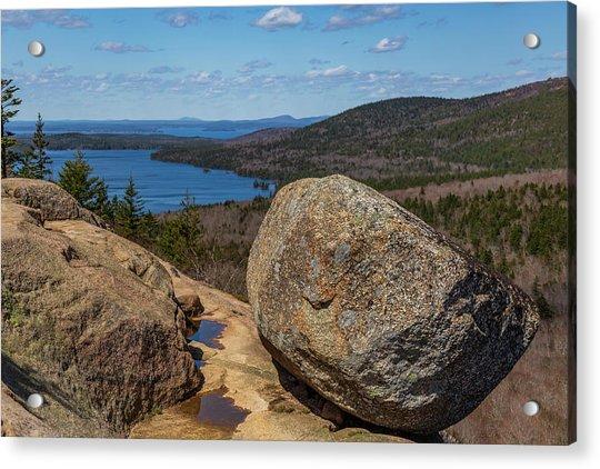 Acadia Np - Bubble Rock Acrylic Print