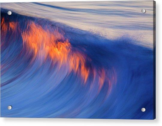 Burning Wave Acrylic Print
