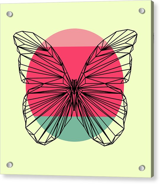 Butterfly And Sunset Acrylic Print